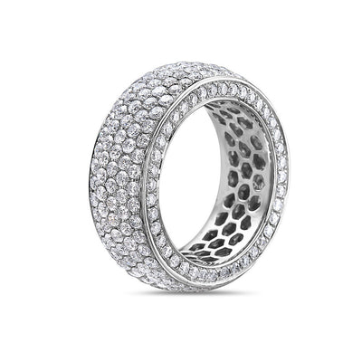 Ladies 14k White Gold With 5.30 CT Wedding Band