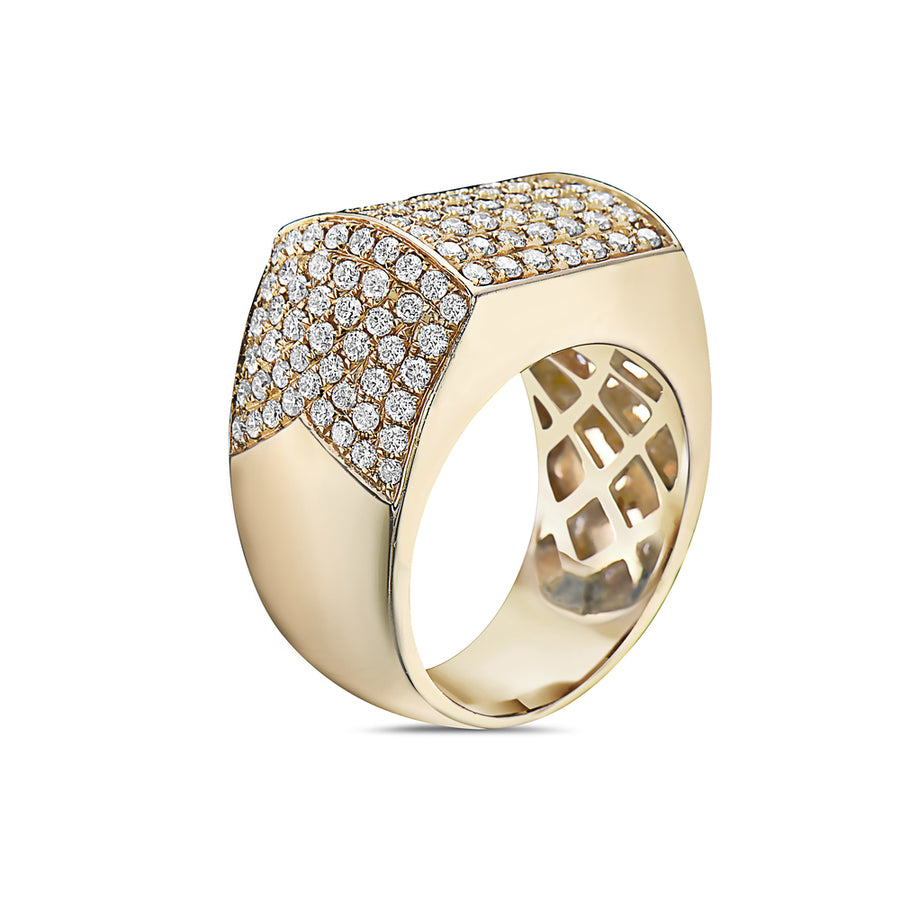 Men's 14K Yellow Gold Ring with 2.32 CT Diamonds