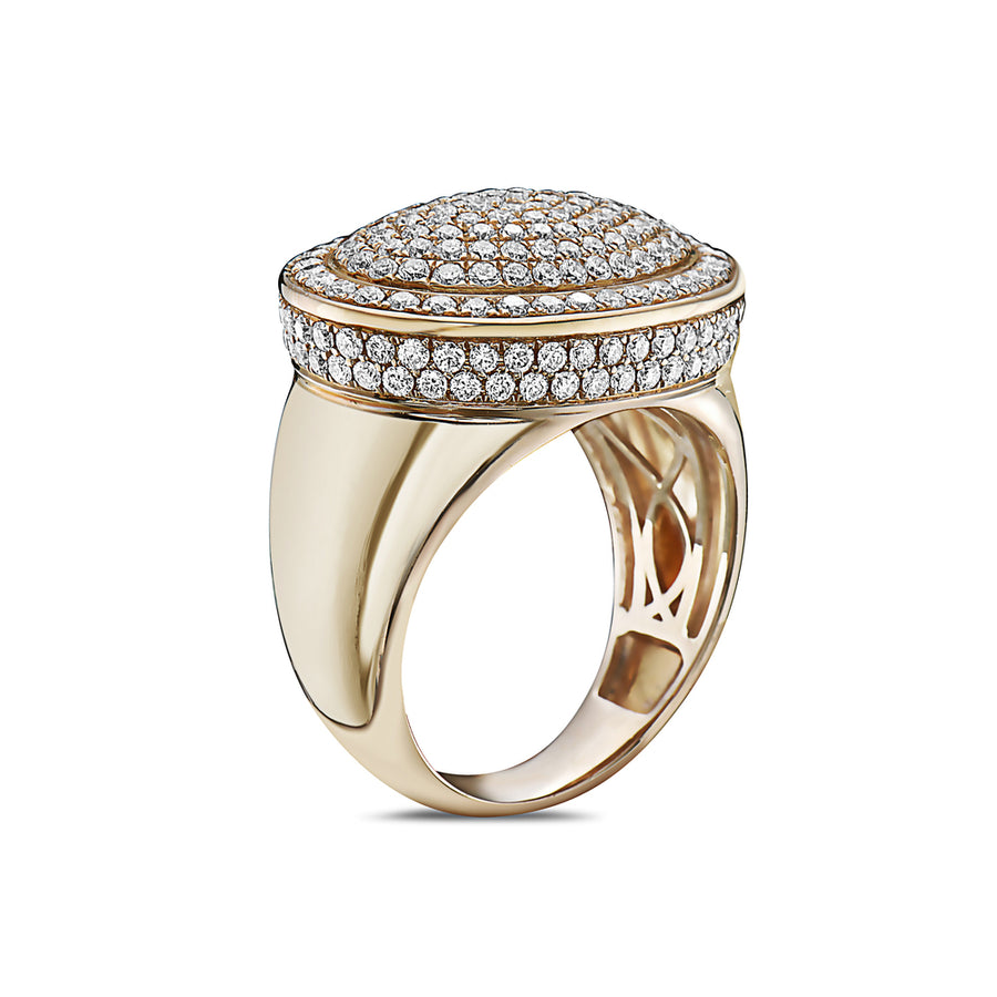 Men's 14K Yellow Gold Ring with 2.66 CT Diamonds