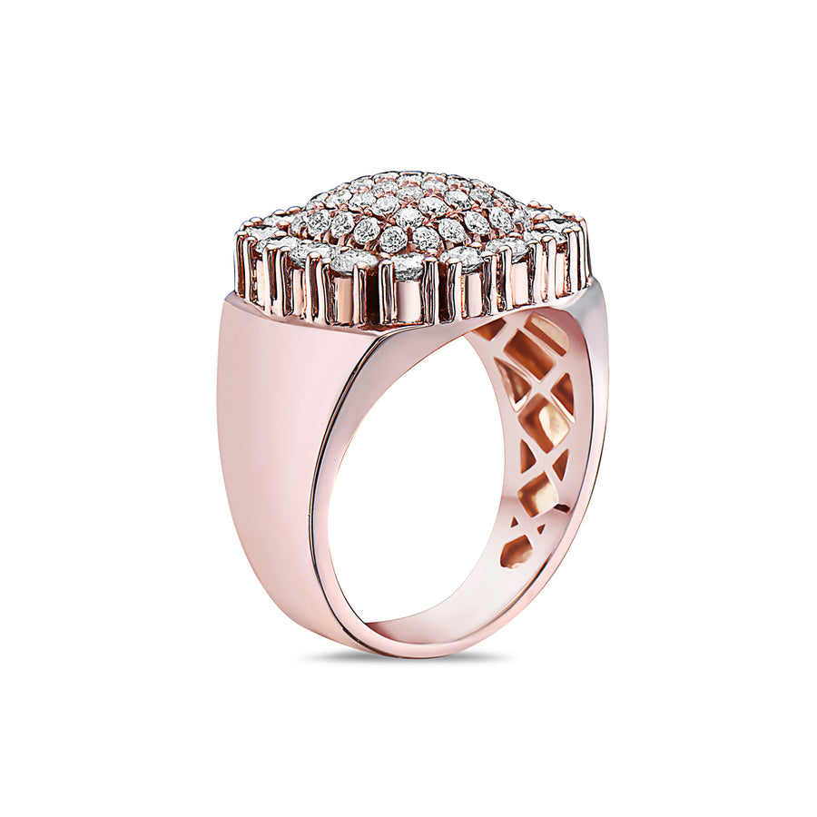 Men's 14K Rose Gold Ring with 2.21 CT Diamonds