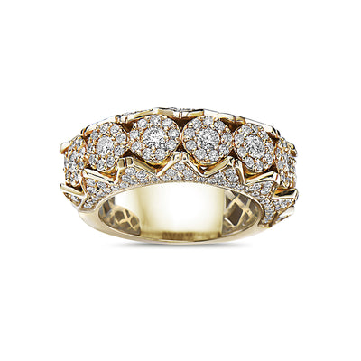 Men's 14K Yellow Gold Band with 2.45 CT Diamonds