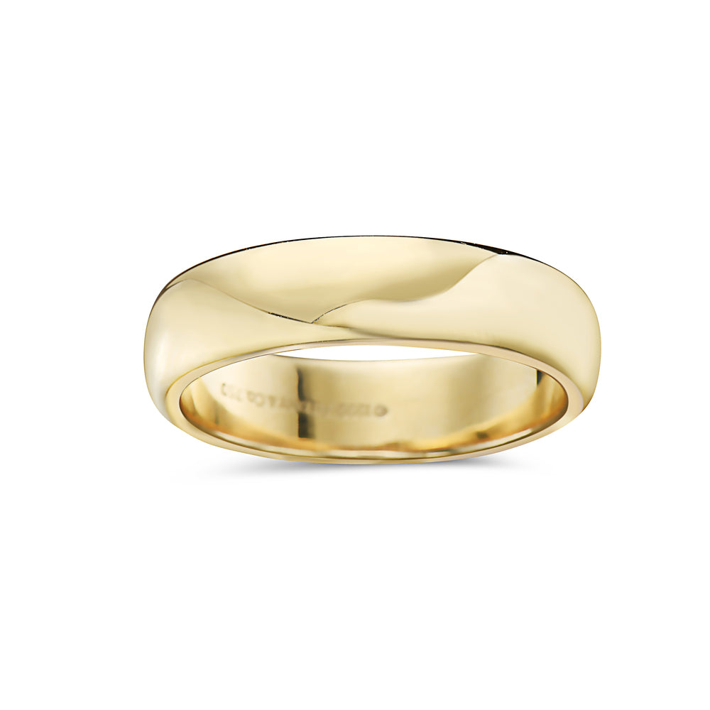 Men's 18K Yellow Gold Band