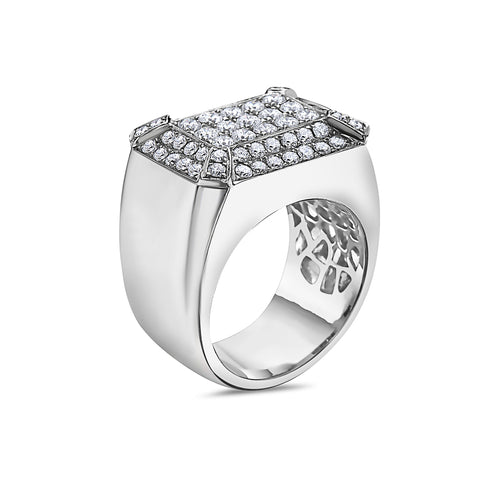 Men's 14K White Gold Ring with 3.04 CT Diamonds