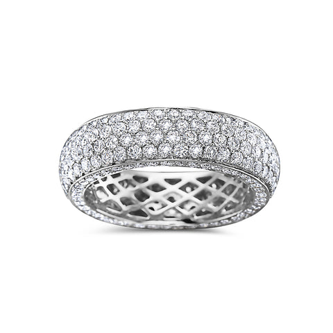 Men's 14K White Gold Band with 5.10 CT Diamonds
