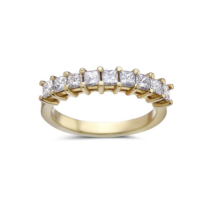 Ladies 14 White Gold With 0.65 CT Diamond Wedding Band
