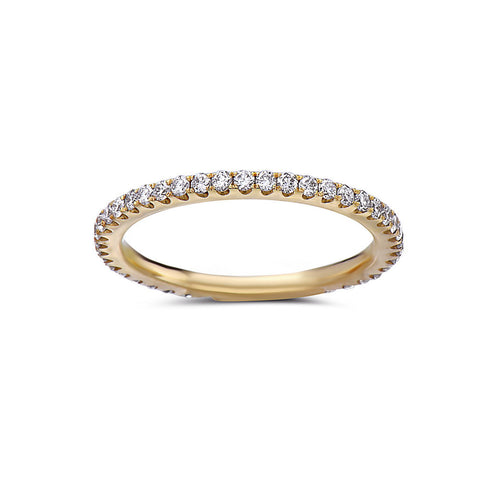 Ladies 18k Yellow Gold 0.47 CT Diamonds Wedding Band
