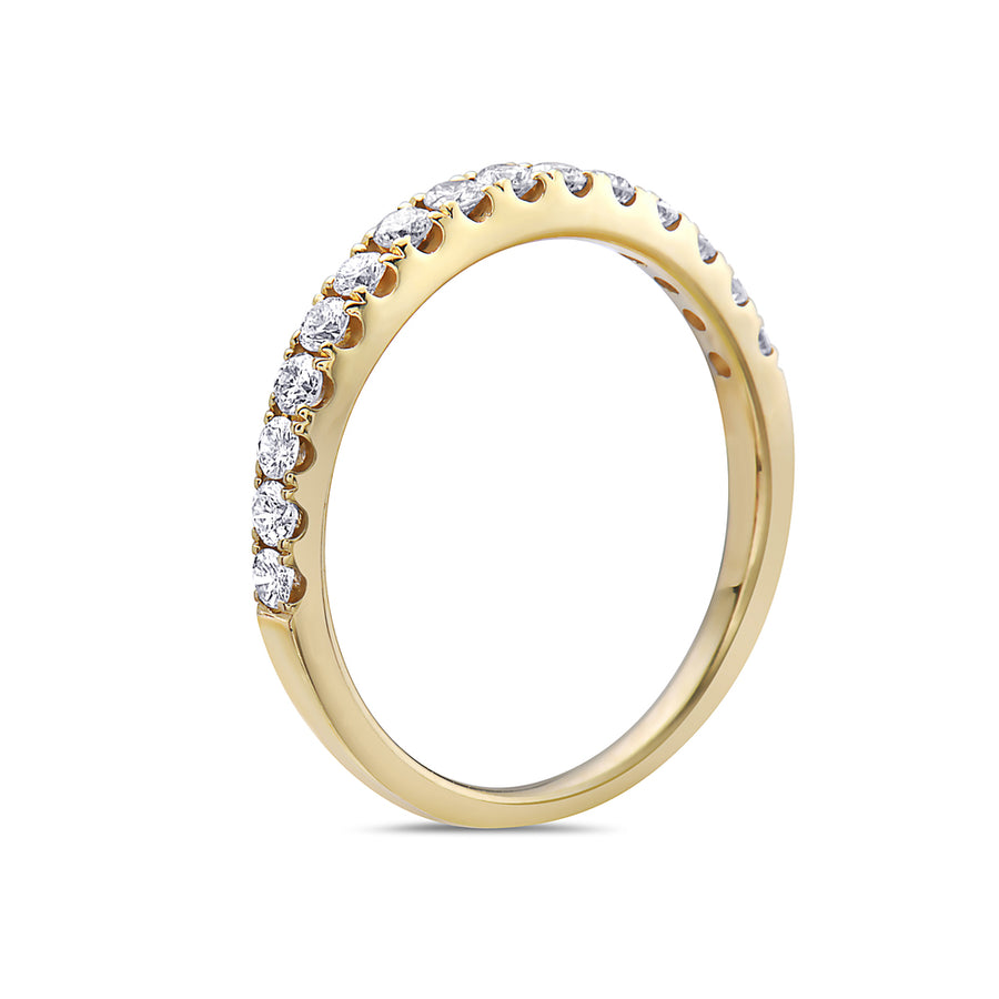 Ladies 18K Yellow Gold With 0.45 CT Diamond Wedding Band
