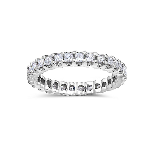 Ladies 18k White Gold With 1.45 CT Diamond Wedding Band