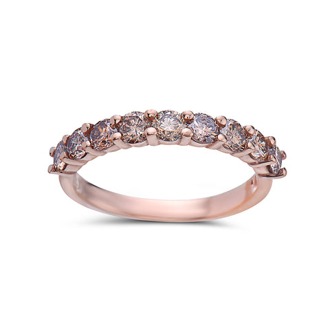 Ladies 18k Rose Gold With 1.25 CT Diamonds Wedding Band