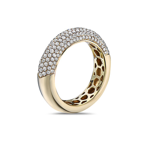 Men's 18K Yellow Gold Band with 1.38 CT Diamonds