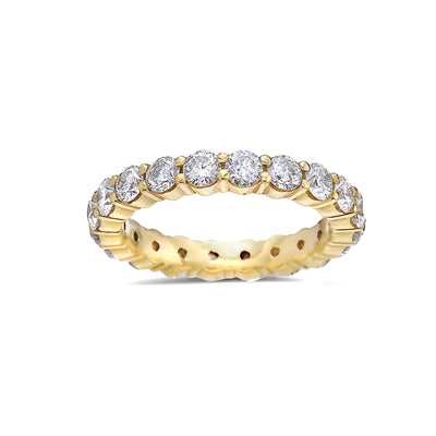 Ladies 14k Yellow Gold With 2.30 CT Diamond Wedding Band