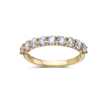 Ladies 14k Yellow Gold With 1.30  CT Diamonds Wedding Band
