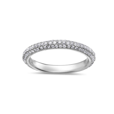 Ladies 18k White Gold With  0.78 CT Diamonds Wedding Band