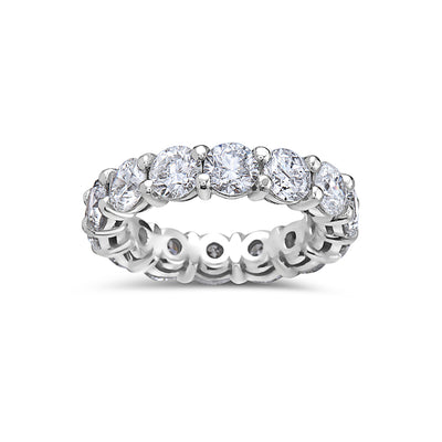 Ladies 14k White Gold With 5.80 CT Diamond Wedding Band