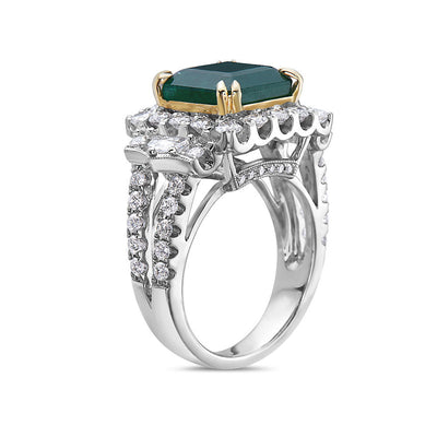 Ladies 18k White Gold with 7.2 CT Fashion Ring