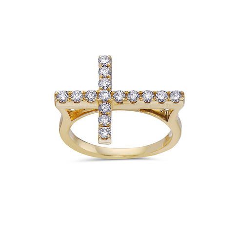 Ladies 14k Yellow Gold With 0.53 CT Right Hand Ring