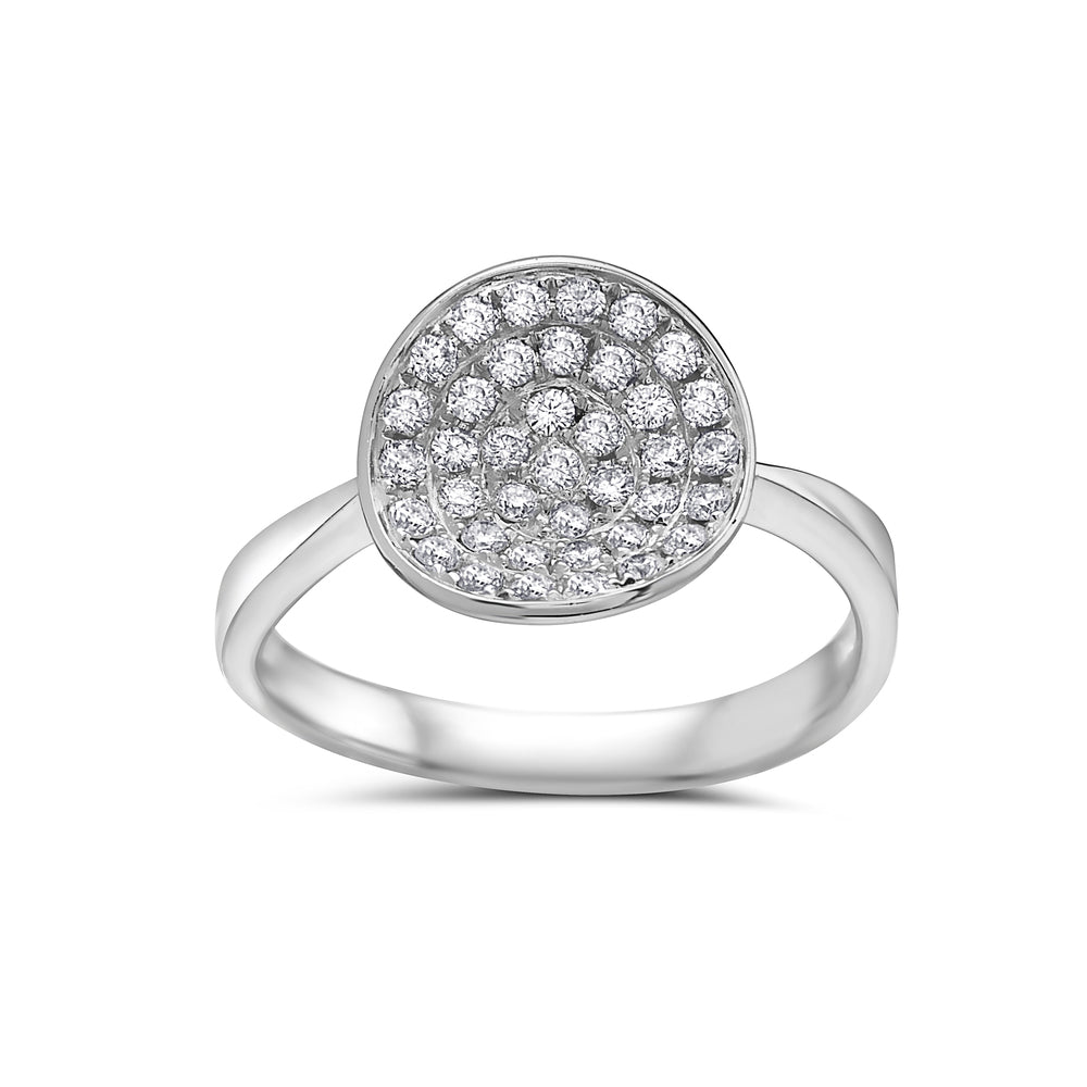 Ladies 18k White Gold With 0.48 CT Right Hand Ring