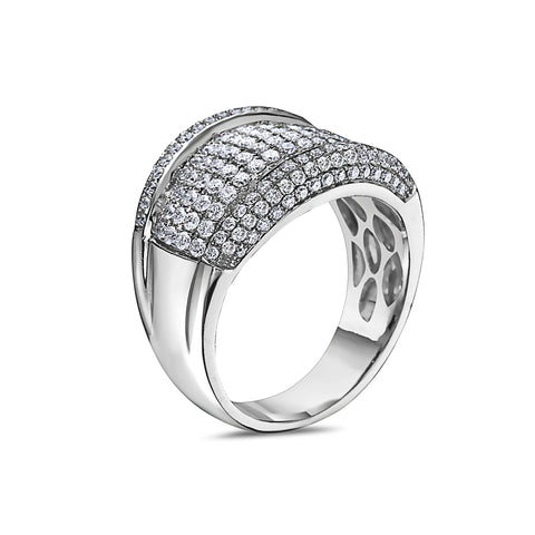 Men's 14K White Gold Ring with 2.15 CT Diamonds
