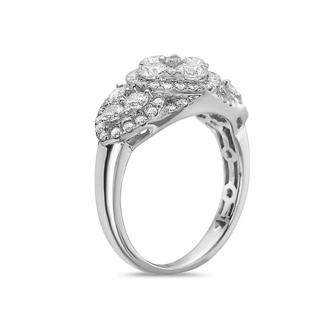 Ladies 18k White Gold With 1.71CT Right Hand Ring
