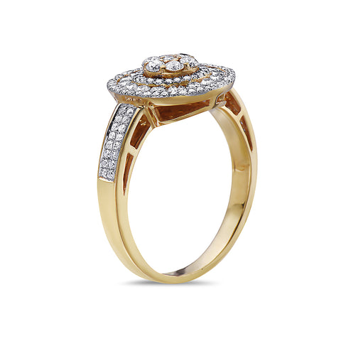Ladies 18k Yellow Gold With 1 CTRight Hand Ring