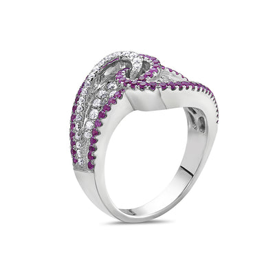 Ladies 18k White Gold With 1.2 CT Right Hand Ring