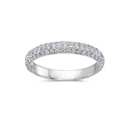 Ladies 18k White Gold With 0.85 CT Wedding Band