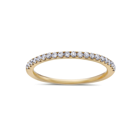 Ladies 18k Yellow Gold With 0.25 CT Diamonds Wedding Band