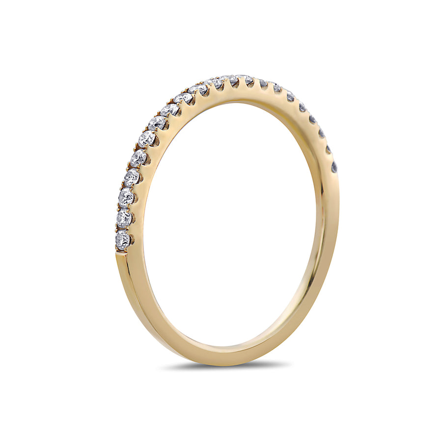 Ladies 18k Yellow Gold With 0.25 CT Wedding Band
