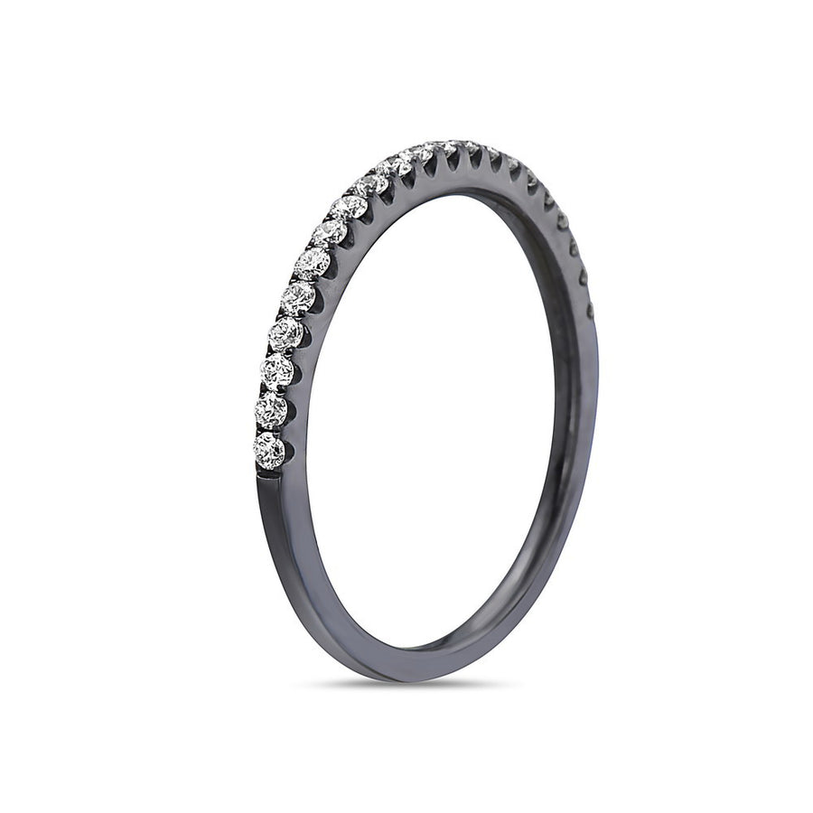 Ladies 18 Black Gold With 0.30 CT Wedding Band