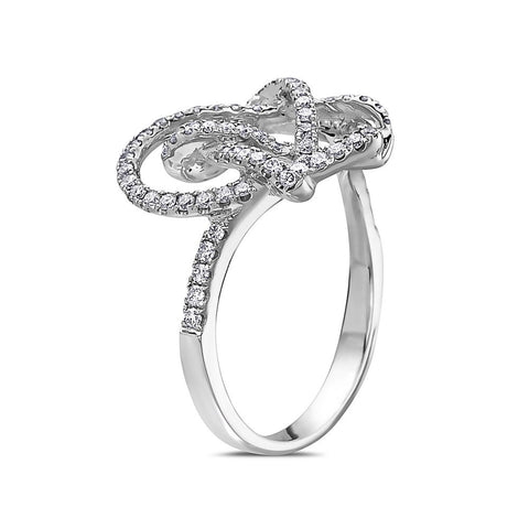 Ladies 18k White Gold With 0.90 CT Right Hand Ring