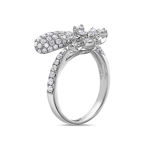Ladies 18k White Gold With 1.11 CT Right Hand Ring