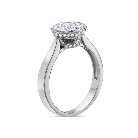 Ladies 18k White Gold With 0.88 CT Right Hand Ring