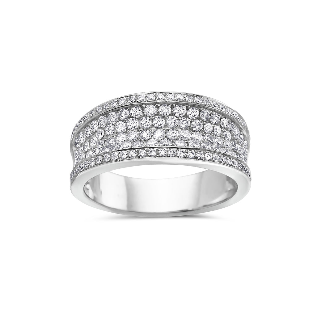 Ladies 14k White Gold With 1.25 CT Weddng Band