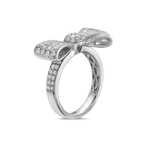 Ladies 18k White Gold With 1.14CT Right Hand Ring