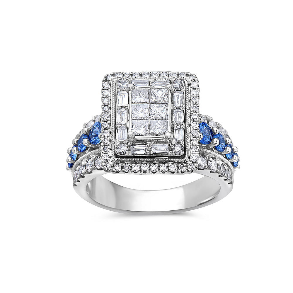 Ladies 14k White Gold With 2.75 CT Fashion Ring