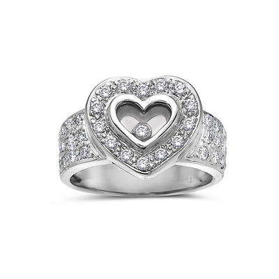 Ladies 18k White Gold With 0.75 CT Right Hand Ring