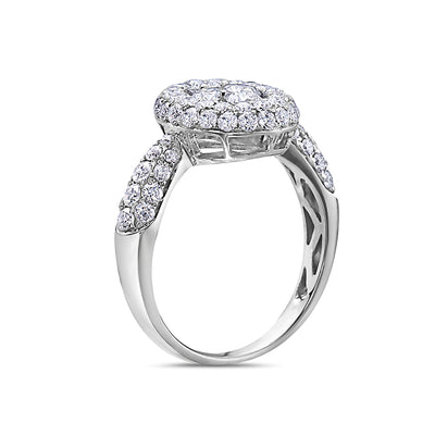Ladies 18k White Gold With 1.50 CT Right Hand Ring