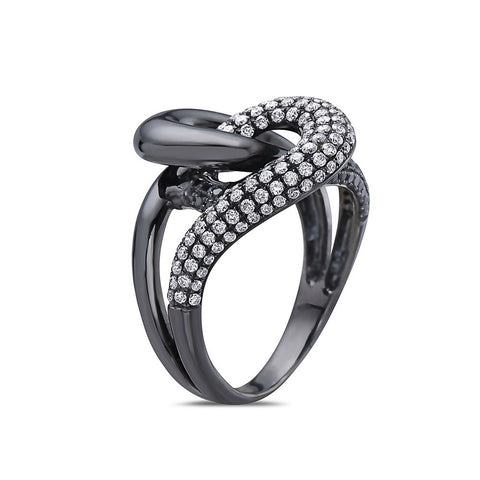 Ladies 18k Black Gold With 1.15 CT Right Hand Ring