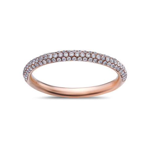 Ladies 18k Rose Gold With 0.32 CT Wedding Band