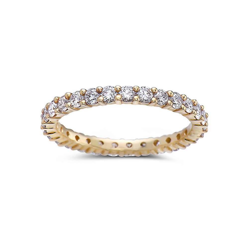 Ladies 18k Yellow Gold With 1 CT Wedding Band Diamonds