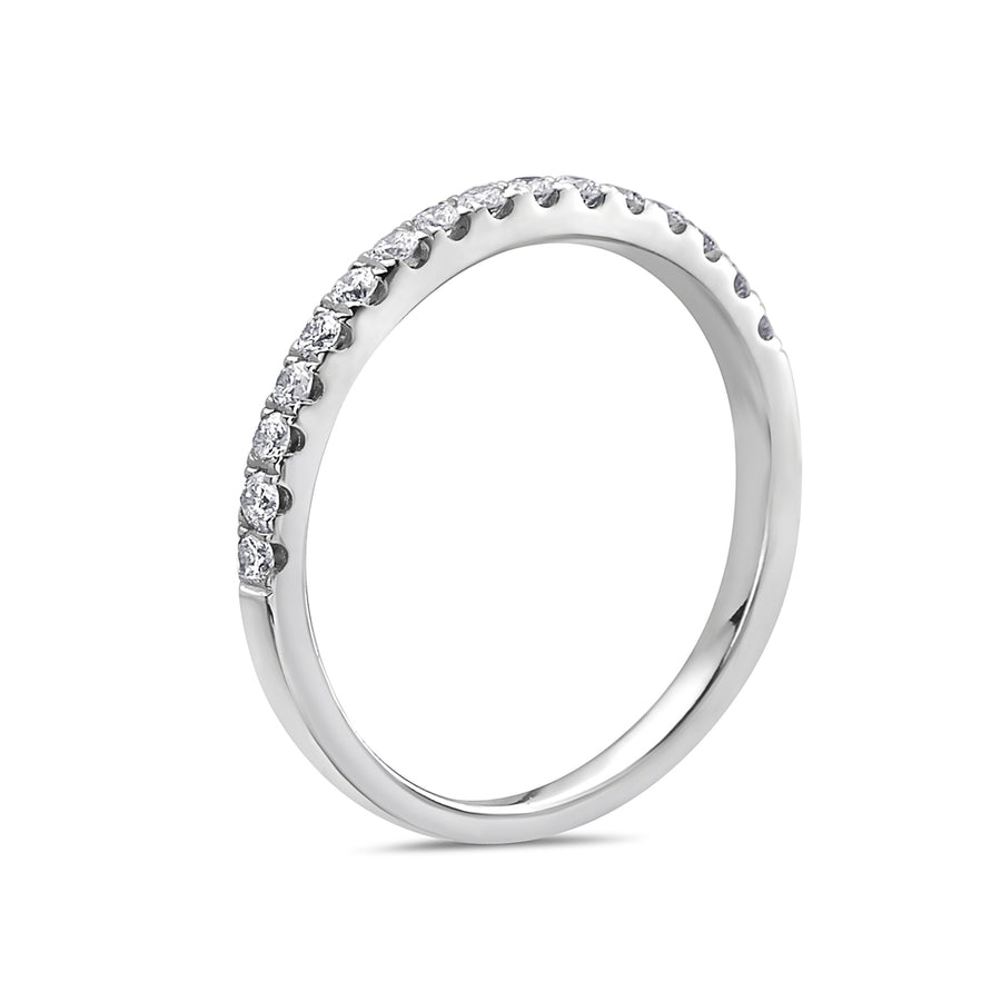 ladies diamond 0.32 CT wedding band