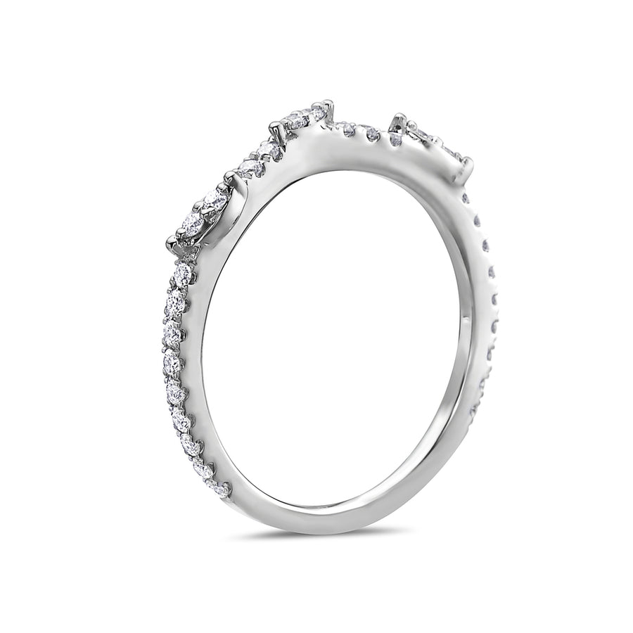 Ladies 18k White Gold With 0.31 CT Wedding Band