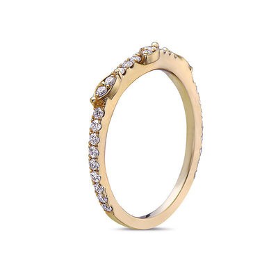 Ladies 18k Yellow Gold With 0.31 CT Diamonds Wedding Band