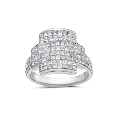 Ladies 14k White Gold With 2.20 CT Right Hand Ring