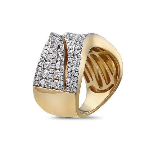Ladies 18k Yellow Gold With 2.85 CT Right Hand Ring