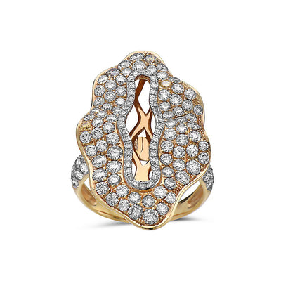 Ladies 18k Yellow Gold With 3.01 CT Right Hand Ring