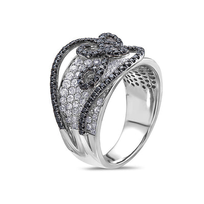 Ladies 14k White Gold With 2.61CT Right Hand Ring