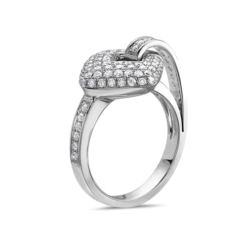 Ladies 18k White Gold With 0.97 CT Right Hand Ring