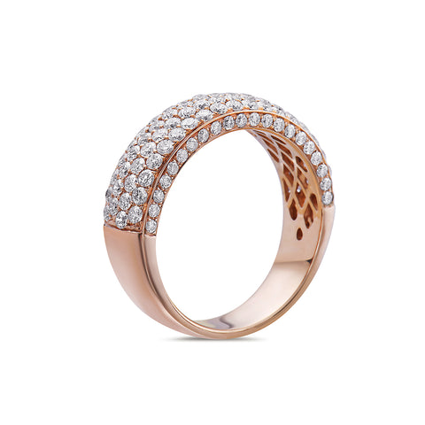 Ladies 14k Rose Gold With 1.75 CT Wedding Band