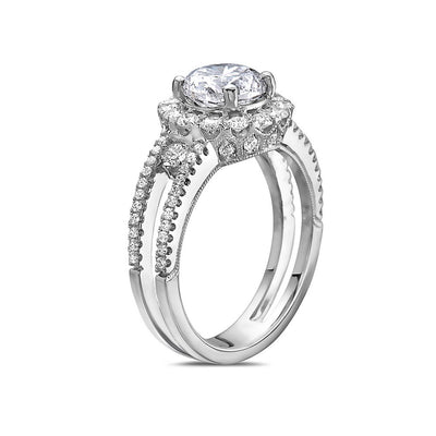 Ladies 18k White Gold With 2.49 CT Engagement Ring